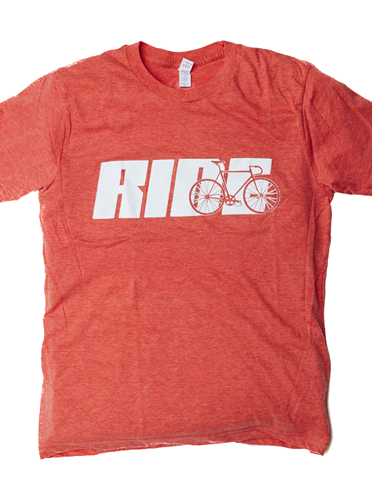 Ride Tee Red Heather